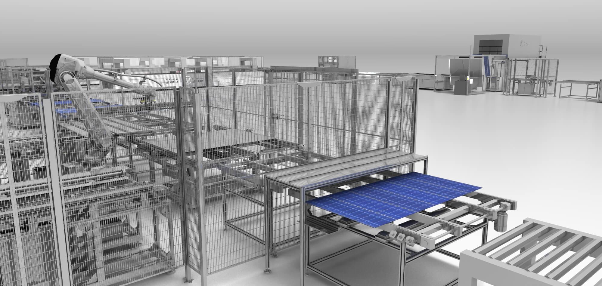 100mw solar power plant modules